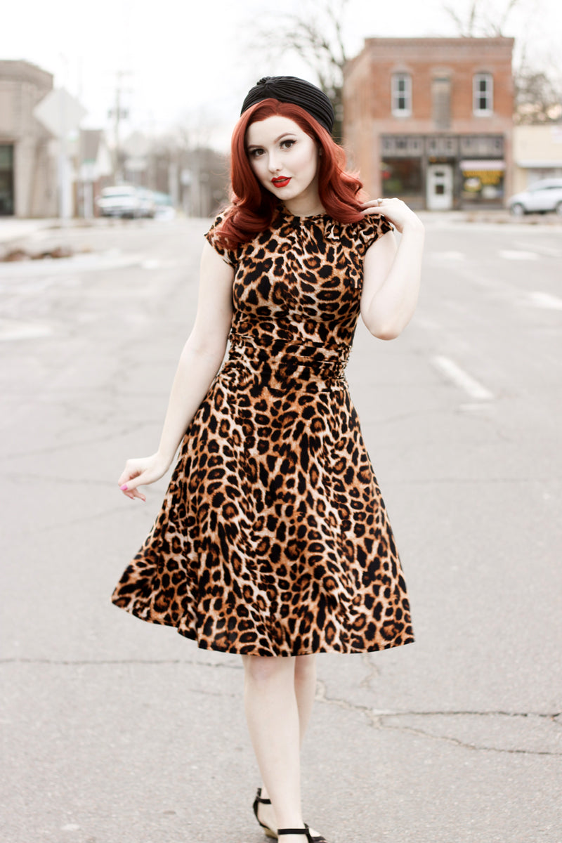 3711 Leopard Bombshell Dress in Plus Sizes