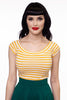 3828 Striped Boat Neck Top in Mustard