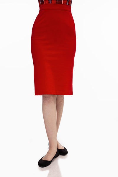 3896 Boss Lady Pencil Skirt in Red