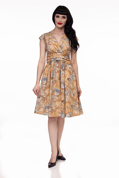 3905 Maps Greta Dress