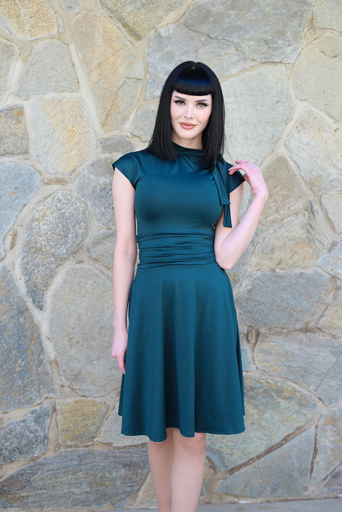 4092 Bombshell Dress in Spruce Green