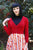 4110 Cropped Cardigan in Red