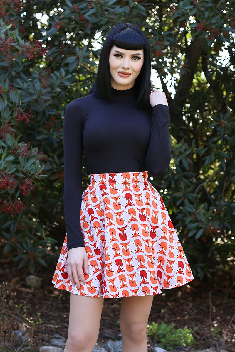 4128 Foxes Skater Skirt
