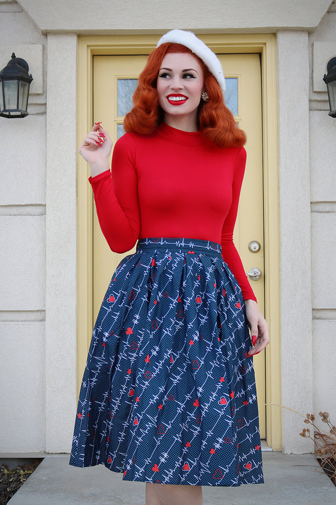 3986 Doris Skirt in Heartbreaker