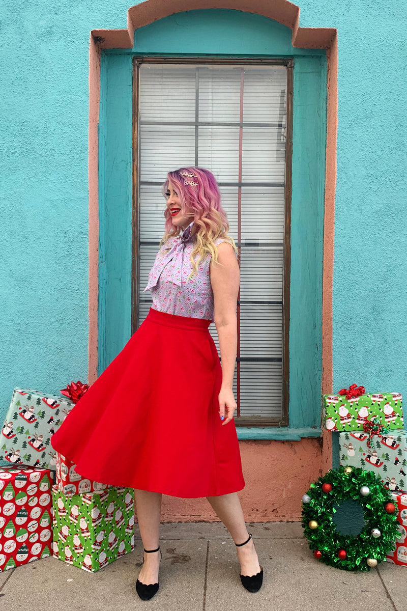 4009 Charlotte Skirt in Red