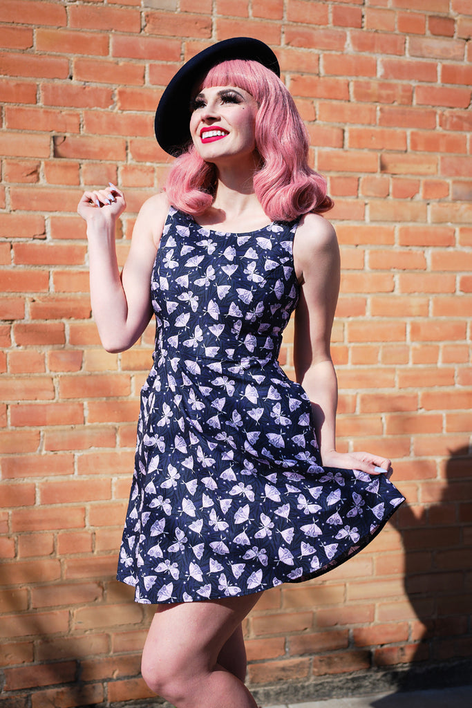 4295 Moths Skater Dress