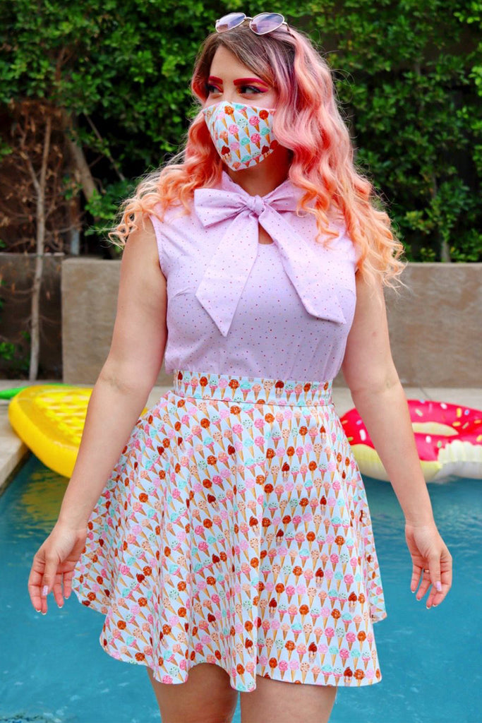 4421 Sweet Treat/Pink Gingham Reversible Mask