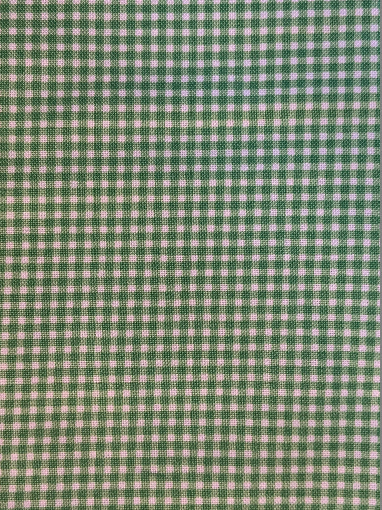 Tiny Green Gingham