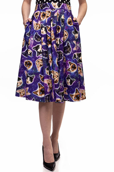3952 Doris Skirt in Space Cats