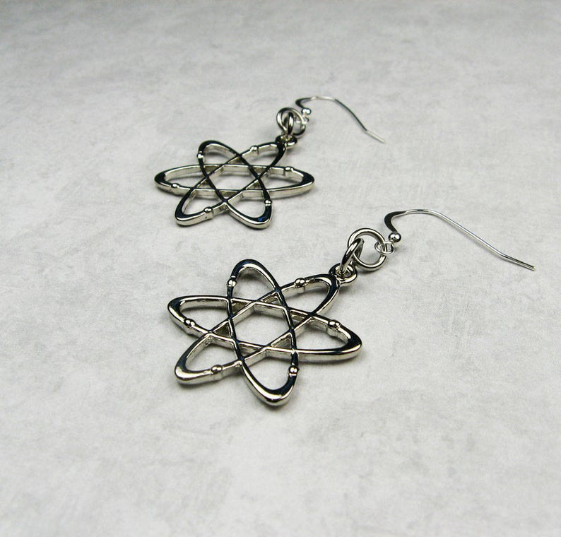 Metal Atom Earrings