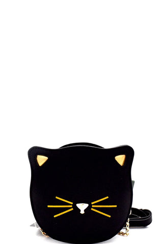 Cat Face Bag in Black