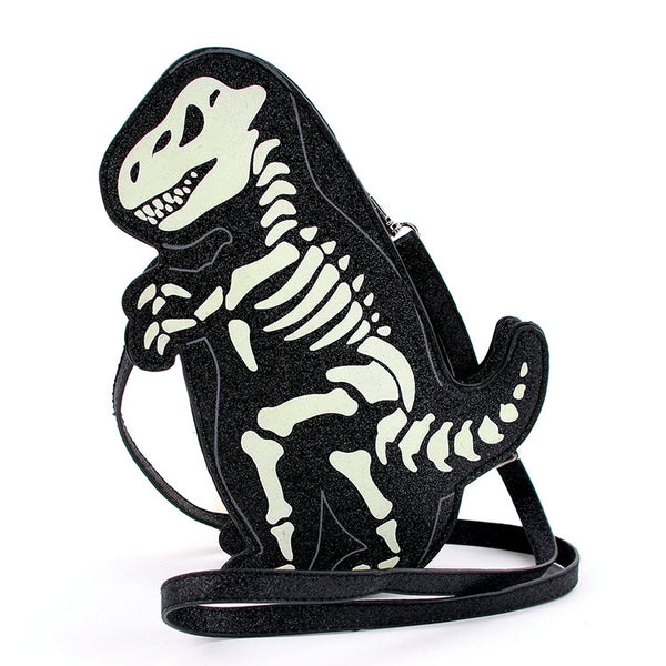 Glow In The Dark Dino Skeleton Bag