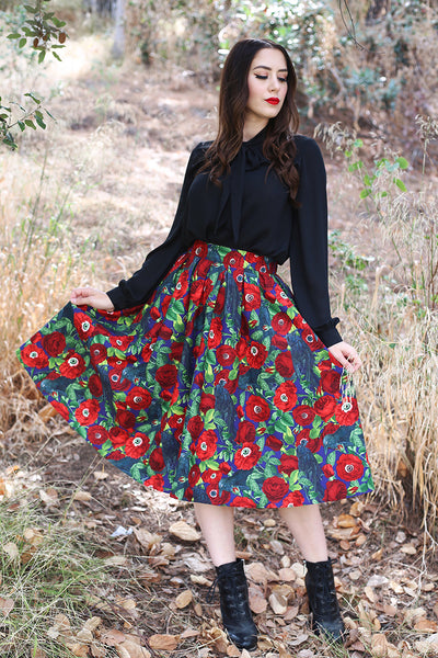 spooky vintage inspired skirt