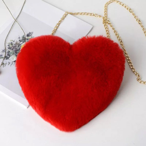 Be Mine Crossbody Heart Bag in Red