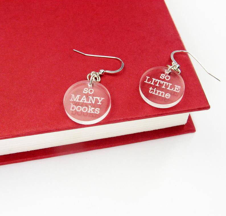 So Many Books So Little Time Earrings