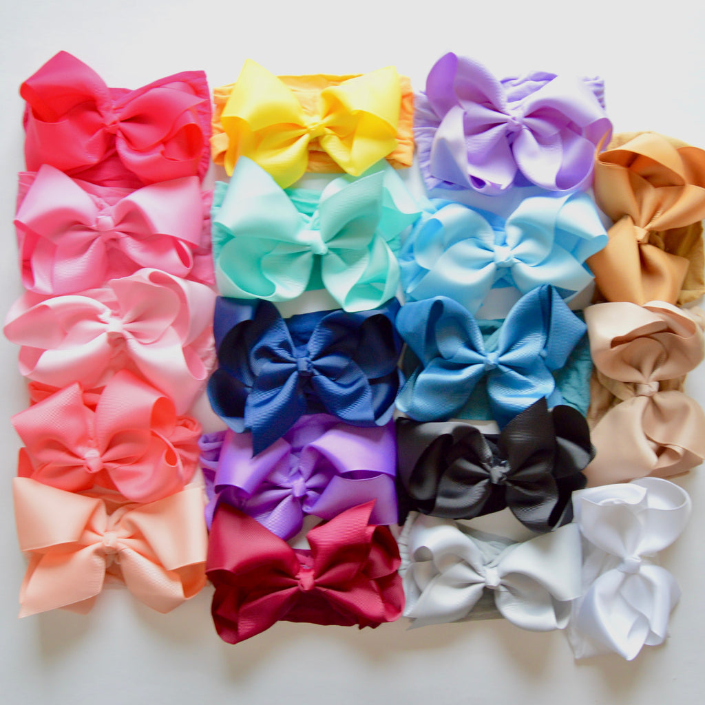 6 Inch Ribbon Bow on Wide Nylon