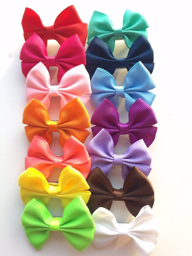 "Emma- Mini 2"" Grosgrain Clips hair clips - Bows For Littles, LLC"