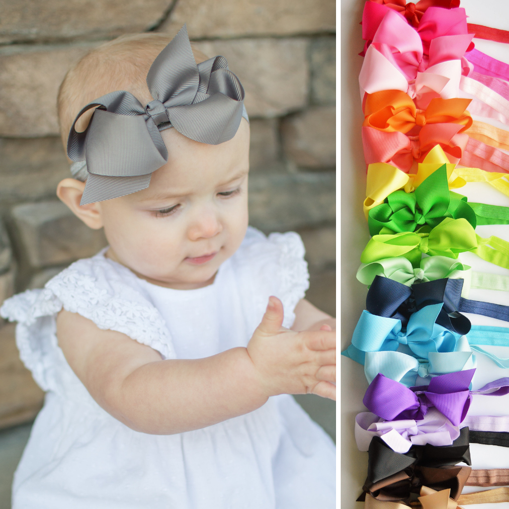 Harper | 4.5 Inch Baby Headband baby Headbands - Bows For Littles, LLC