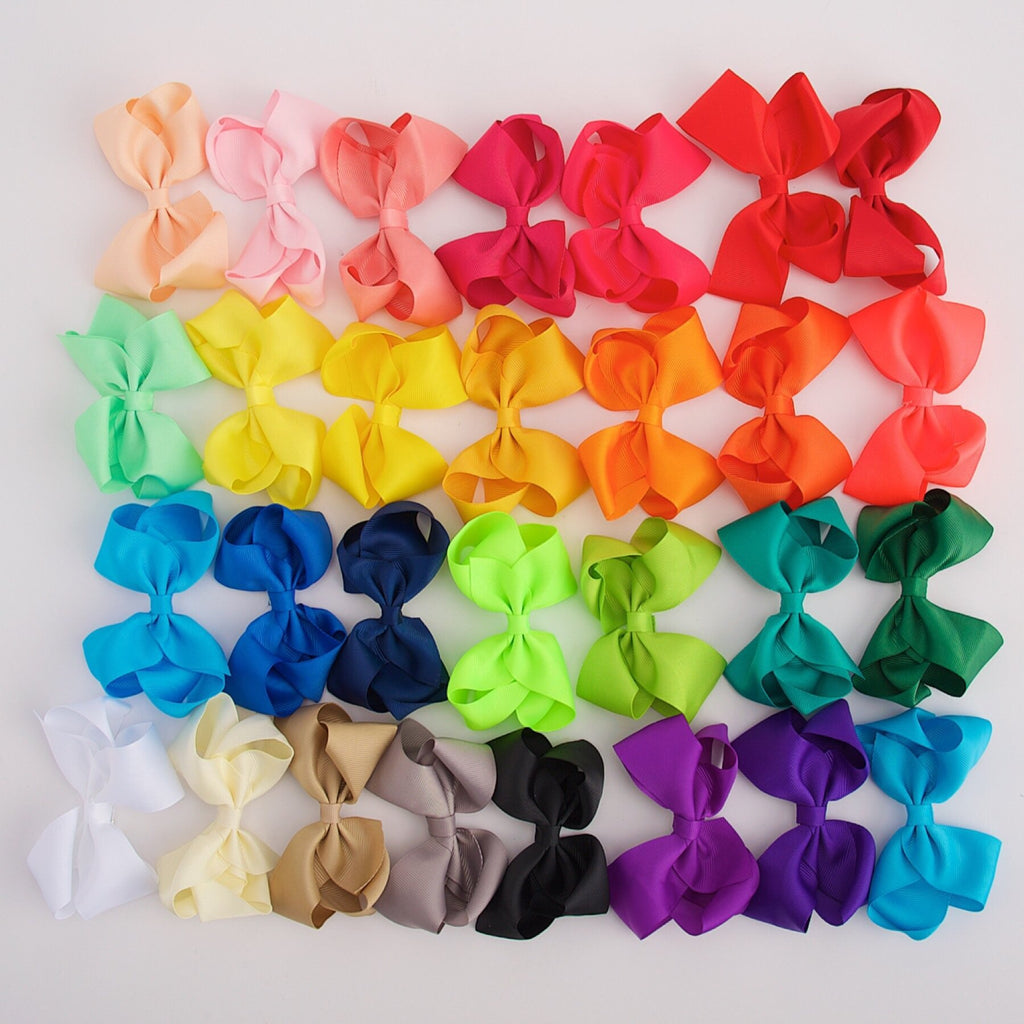 Allie | 4 Inch Boutique Hair Bows hair clips - Bows For Littles, LLC