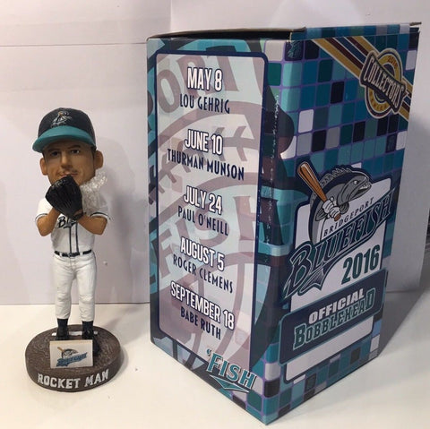 "9/18/16 Roger Clemens ""Rocket Man"" Bridgeport Bluefish Yankees SGA Bobblehead"
