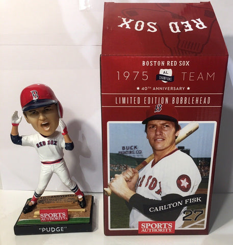 "5/5/2015 Carlton Fisk ""Pudge"" 40th Anniversary Bobblehead Boston Red Sox Stadium Giveaway"