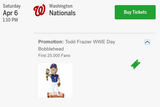 4/6/19 Todd Frazier WWE Day Bobblehead New York Mets Citi Field Stadium Giveaway 2019 SGA