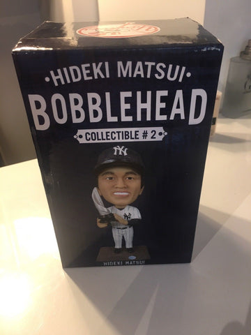 7/28/13 Hideki Matsui World Series MVP SGA Bobblehead July 2013 New York Yankees