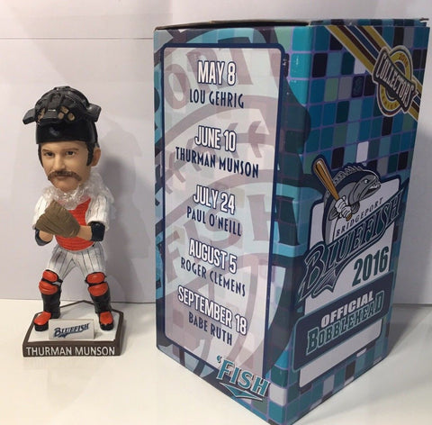 6/10/16 Thurman Munson Bridgeport Bluefish / Yankees SGA Bobblehead