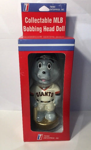 SF San Francisco Giants LOU SEAL Bobblehead MLB Bobbing Head Doll Twins Enterprise TEI