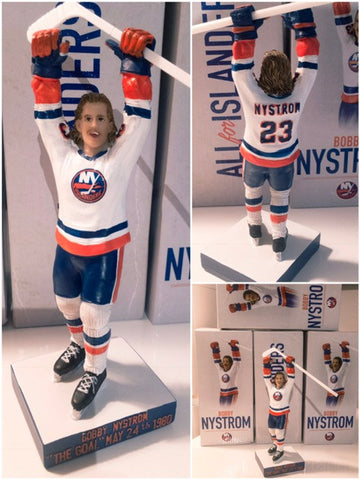 "Bobby Nystrom Figurine (2/6/17) SGA ""The Goal"" on May 24, 1980 New York NY Islanders Barclays Center Giveaway"