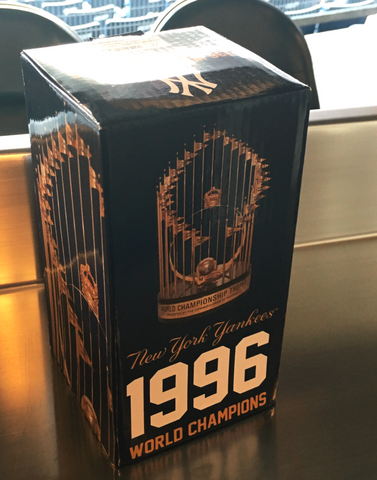 New York Yankees 1996 World Series Replica Trophy 8/12/16 SGA 2016 BRAND NEW