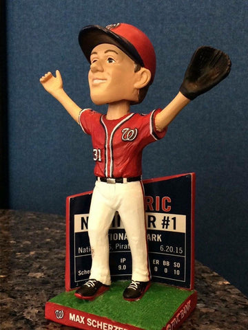Max Scherzer 2016 SGA No Hitter 1 of 2 Bobblehead - 5/23/16 Washington Nationals