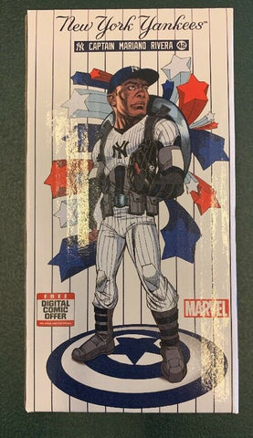 7/12/19 Mariano Rivera Captain America Bobblehead New York Yankees Stadium Giveaway