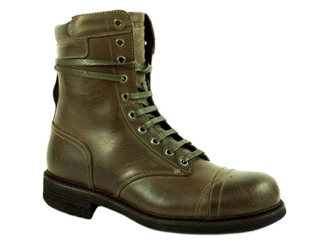 Diesel CASSIDY Men's Ankle Casual Fashion Military Green Leather Boot