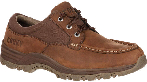 Rocky LAKELAND Mens Work Casual Brown Leather Shoes
