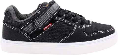 Levi's Davis Shoes Sneakers (Little Kid's/Big Kid's) Denim Black Reverse (AA3)