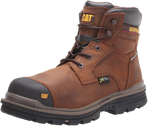 "Caterpillar RASP 6"" WP MG CT Comp Toe Mens Work Safety Brown Leather Boots"