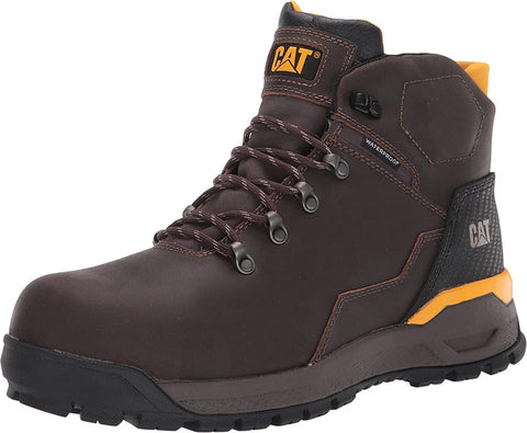 Caterpillar KINETIC ICE WP TX Comp Toe Mens Work Safety Brown Leather Boots