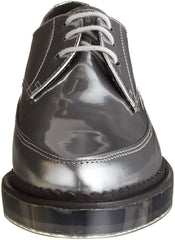 Diesel Women's Kalling Oxford Fashion Casual Dress Silver Leather Shoes