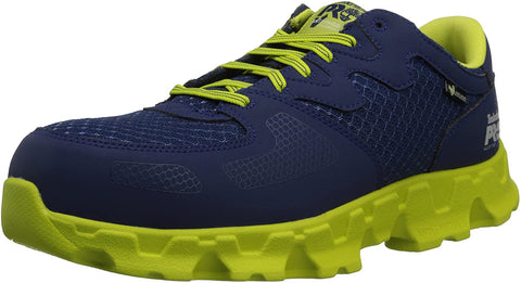 Timberland PRO Powertrain Alloy Safety Toe Shoes EH Men's Work Navy Green Sneakers