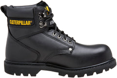 Caterpillar Second Shift SG ST Steel Toe Mens Work Safety Black Leather Boots