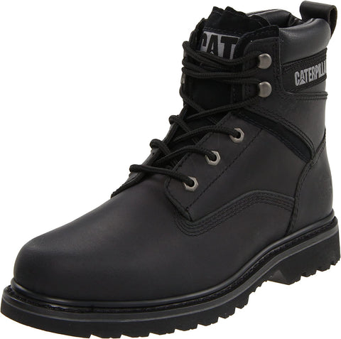 Caterpillar Rangler MR Slip Resistant Men's Work Black Leather Boots