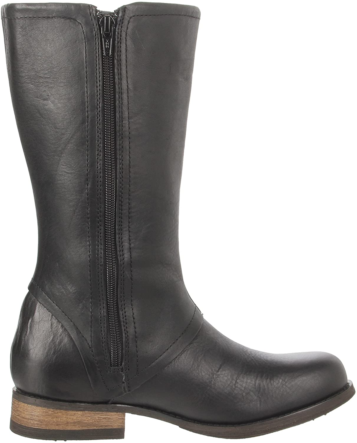 Caterpillar PAYTON  Mid Calf  Womens Work Casual Black Leather Boots