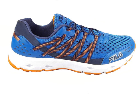 FILA Sorrento Mens Athletic Trail Running Shoes Sneakers Blue