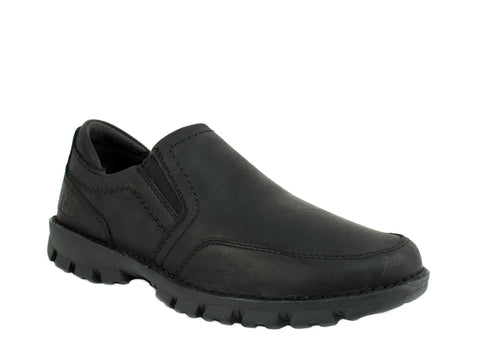 Caterpillar GRAYSON Loafer Men's Work Casual Black Leather Shoes
