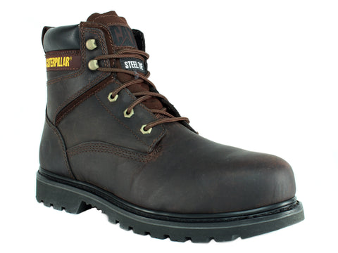 Caterpillar Rangler MR Steel Toe Slip Resistant Men's Work Dark Brown Boots