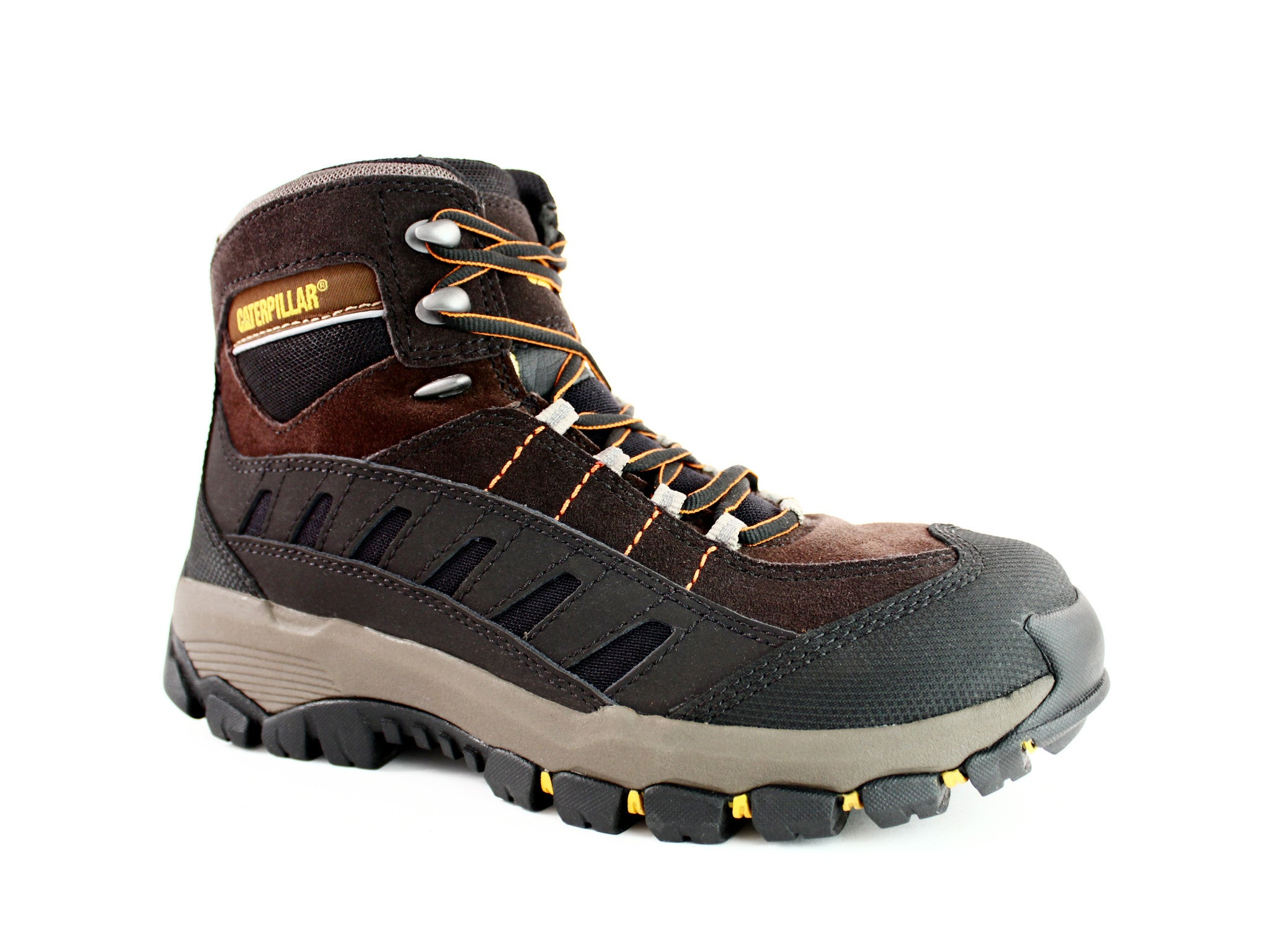 "Caterpillar Sensor HI 6"" Men's Work & Hiking Boots Brown/Black"
