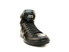 JUMP J75 Fierce Men's High-Tops Casual Leather Sneakers, Black Lizzard