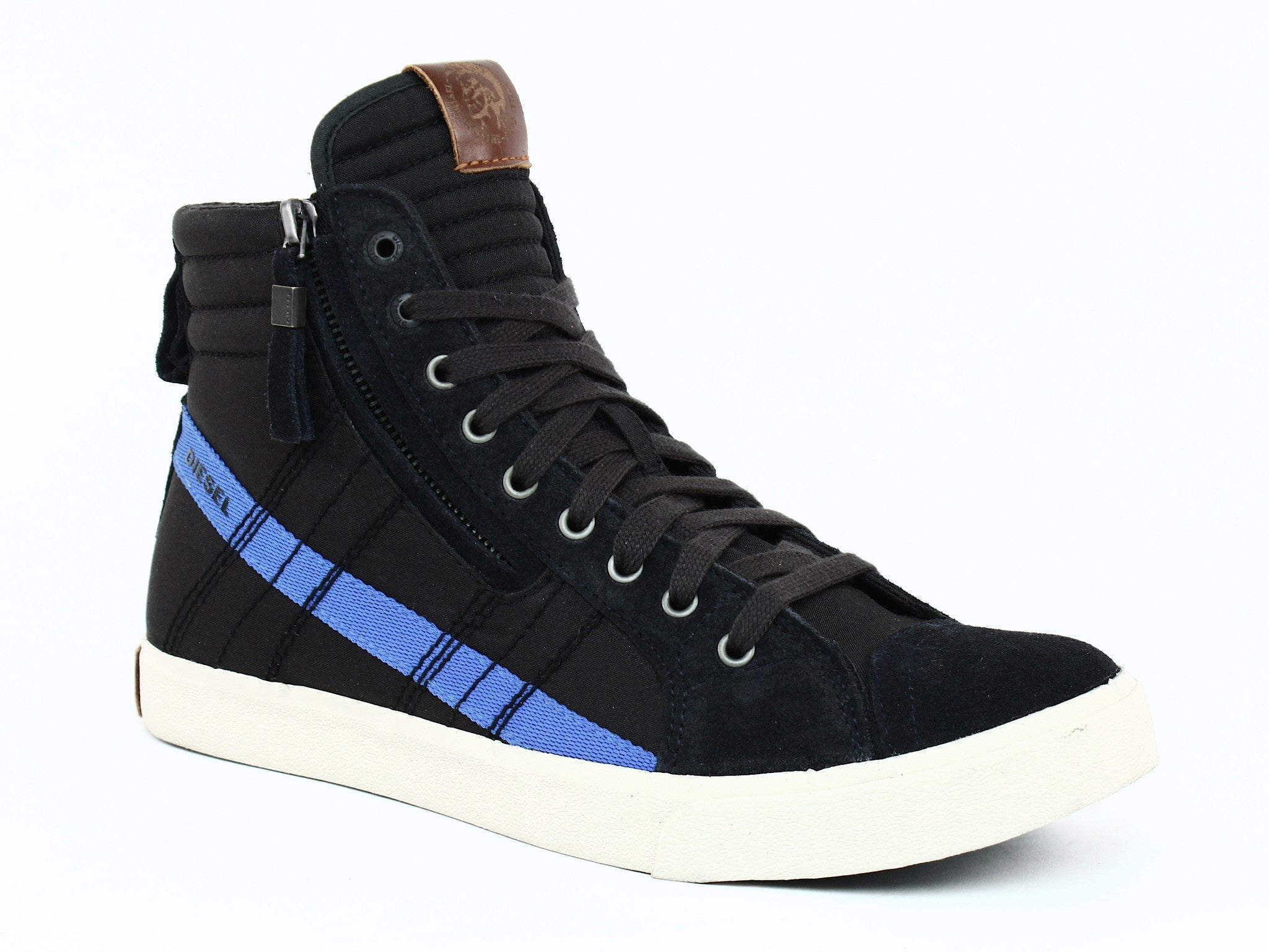 Diesel D-STRING Men's High Tops Casual Fashion Sneakers Anthracite Nautical