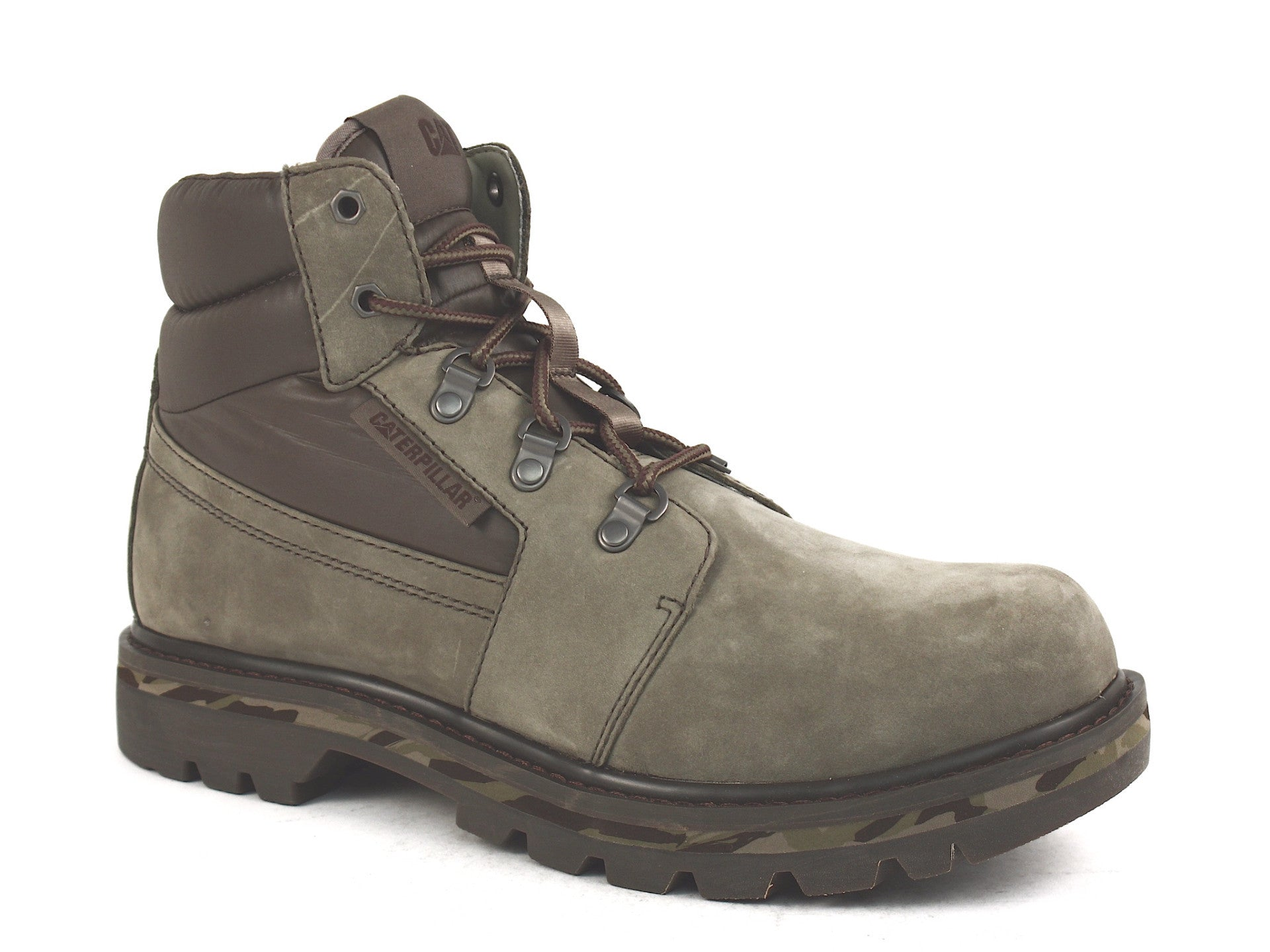 Caterpillar Junction  Work Hiking Casual Olive Leather Men's Boots